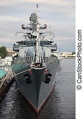 Navy frigate - Russian Navy frigate Yaroslav Mudry, a front...
