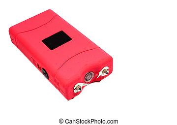 Pink Taser - Isolated womens pink taser used for self...