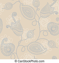 Floral seamless pattern - Elegant floral seamless pattern in...