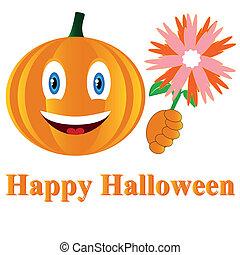 Pumpkin in a Halloween