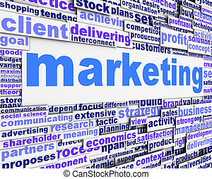 Marketing message conceptual design. Business management...