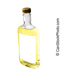 Tequila Isolated - A close up on a bottle of Tequila...