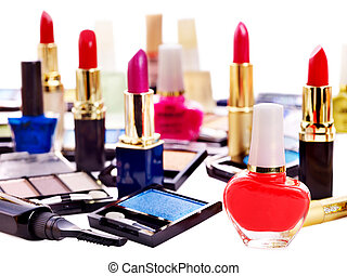 Decorative cosmetics for makeup Close up