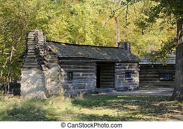 New Salem Log Cabin - Log cabin at lincolns new salem state...