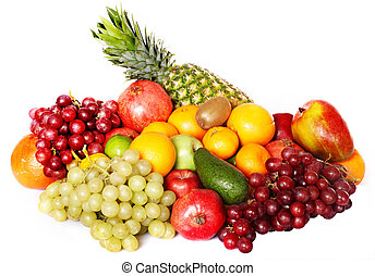 Group of colour fruit Isolated