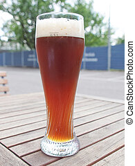 Weiss beer - A glass of German weiss beer