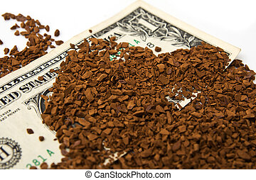 dollars in the ground coffee