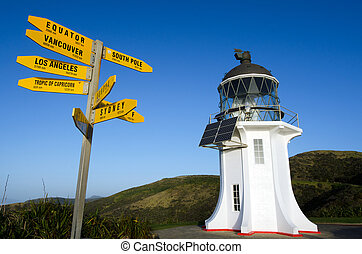 Cape Reinga Lighthouse - Directions to the world and Cape...