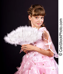 Child in carnival costume - Little girl in carnival costume...