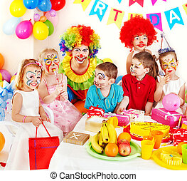 Child birthday party - Children happy birthday party