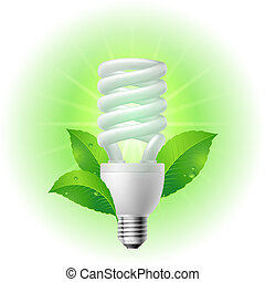 Energy saving lamp. Illustration on white background.