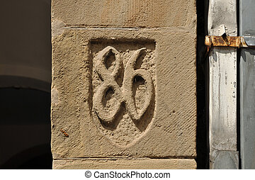 Number Eighty-six - House Number Eighty-six in relief