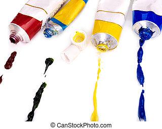 Close up of art supplies.