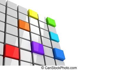 Colorful cubes getting detached spectrum concept alpha...