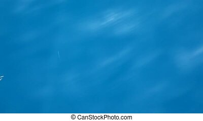 blue sea water view from a boat - blue sea water view from a...