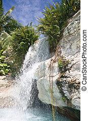 Mountain waterfall in malaysia. Langkawi.