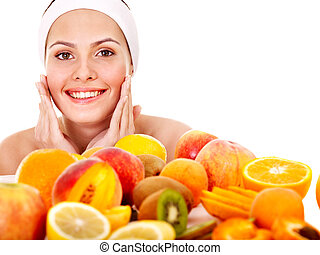 Natural homemade fruit facial masks Isolated