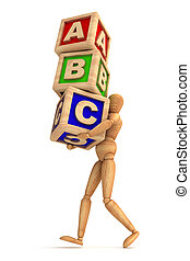 Education - Dummy carrying cubes