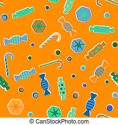 Sweets and candies vector background