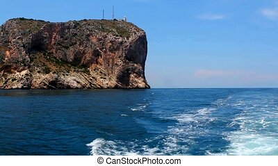 Boating in Mediterranean sea in Cabo de la Nao Cape Alicante...