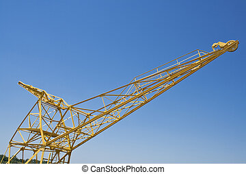 Yellow port crane