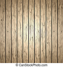 Vector wood plank background - Old brown wood plank...