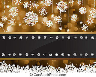 Gold elegant christmas background. EPS 8