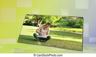Woman enjoying a park