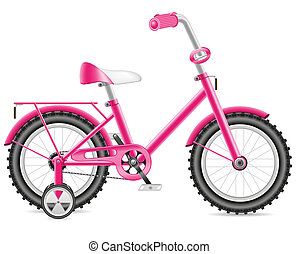 kids bicycle for a girl illustration isolated on white...