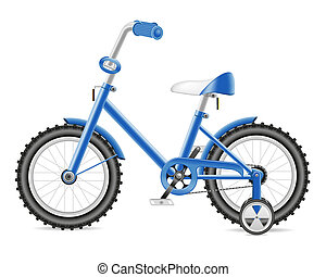 kids bicycle for a boy illustration isolated on white...