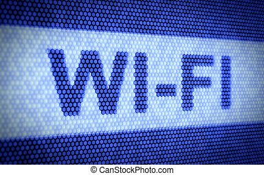 WI-FI concept - 3d render of WI-FI concept on blue screen