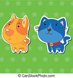 cute animal stickers 01 - cute animal stickers with dog and...