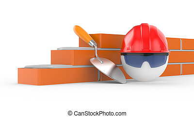 builder in helmet