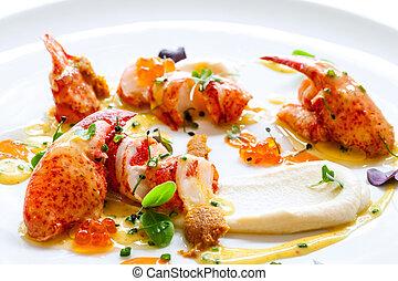 langosta, caviar, mariscos, Aliños
