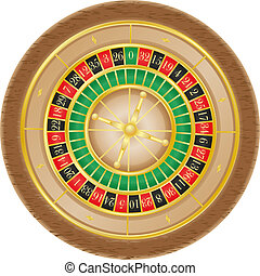 roulette casino illustration isolated on white background
