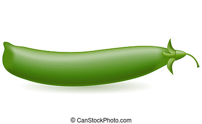 peas illustration isolated on white background