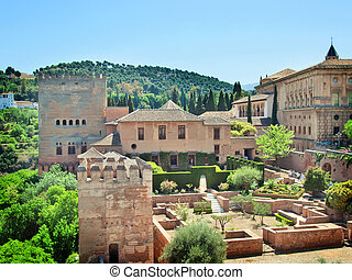 The Alhambra Alhambra in Granada, Andalucia, Spain - The...