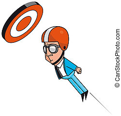 Business targets - Isolated illustration Cannonball...