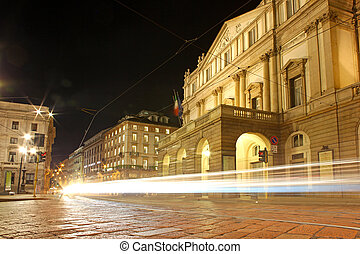 La Scala opera house, The most famous italian theatre in...