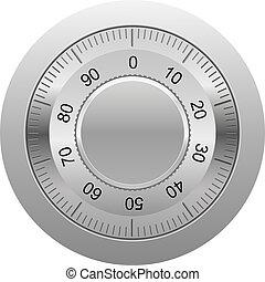 combination lock illustration isolated on white background