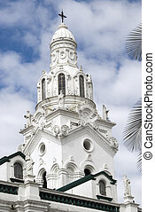 cathedral on plaza grande quito ecuador - cathedral on plaza...