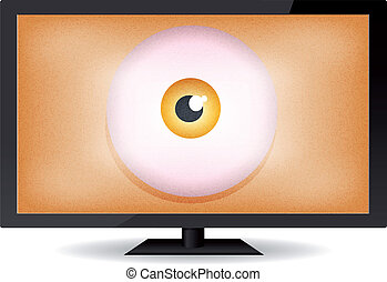 Big Brother Eye - Illustration of a cartoon big brother eye...