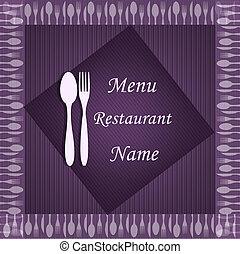 Sample of the menu of restaurant