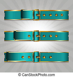 Belts with buckle, illustration of slimming process