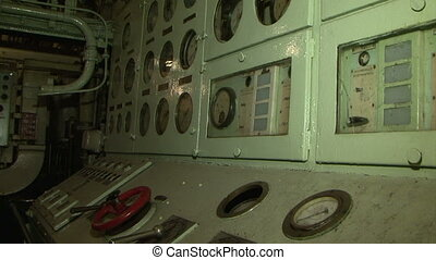 The engine room of the ship