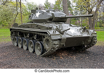 Tank From World War II - M24 Chaffe Tank From World War II