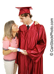 Congratulations Son - Proud mother congratulates her son on...