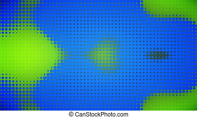 Video of blue and green dots - Animation of blue and green...