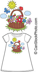 pattern for children clothes wear