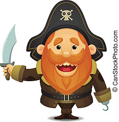 Pirate Captain - Cute Cartoon Character